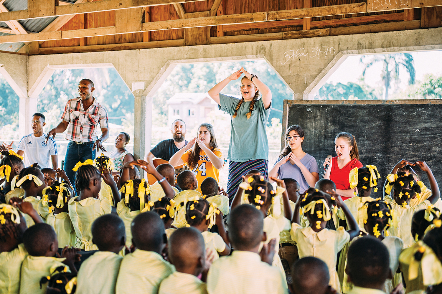 Thank you to students from  Ben Lippen  school—who shared VBS programs at our Masson, Signeau and Concrab Christian Academy campuses.When students spend fun time together, hearts are encouraged. Love speaks every language.