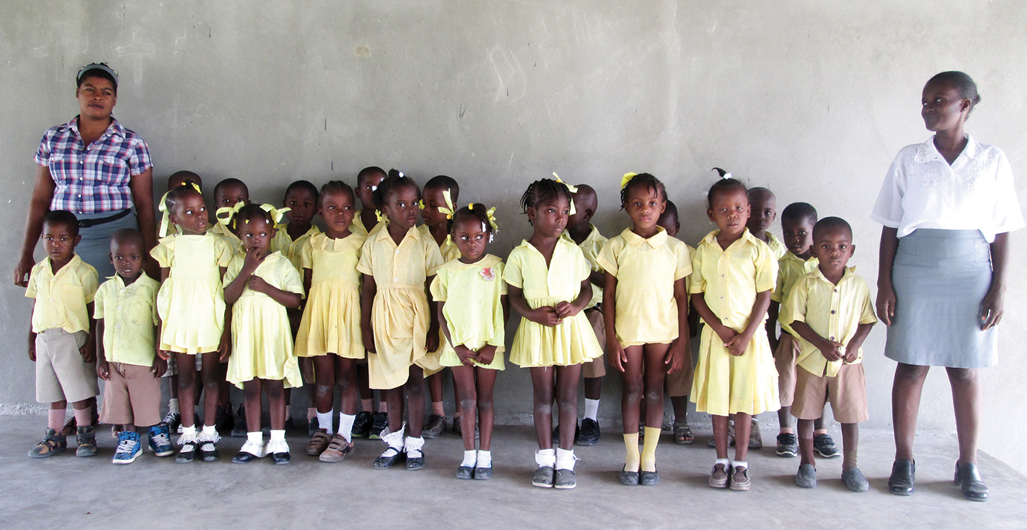 Preschool students from our New Missions Christian Academy in Neply, Haiti, are new leaders on the rise.