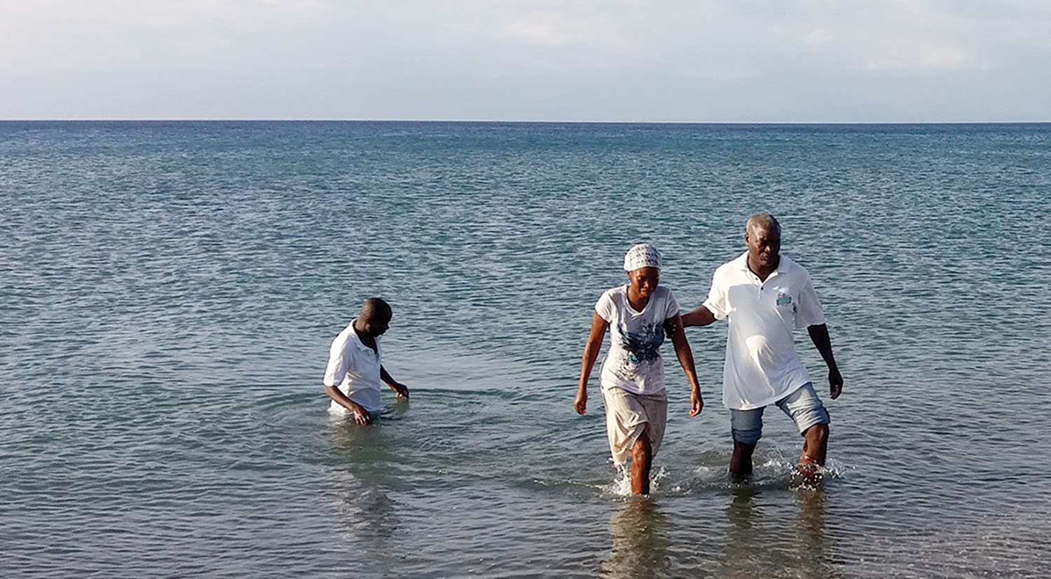 Pastor Jean Panel Louis from our church in Bire, Haiti, hosted a baptism service in Bord-Mer.