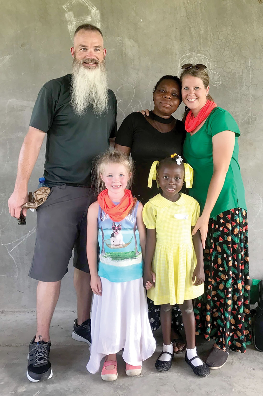 Pastor Greg and Sarah Pulling from Journey Christian Fellowship in Quinton, Virginia took their daughter Lilah to Haiti to meet Sandy.