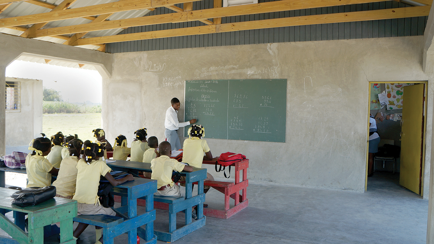 Painting churches and schools is an ongoing responsibility, as we desire to keep our mission shining brightly. Providing local jobs, our school benches are entirely made in Haiti by local carpenters.