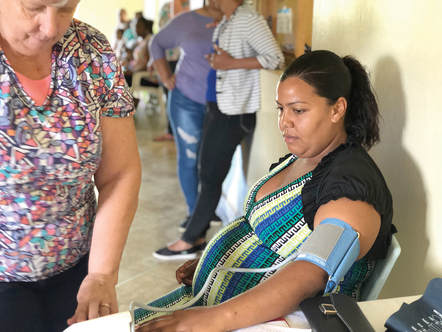 Each of the pregnant women received health screenings, including blood pressure, weight, iron level checks, and ultrasounds.