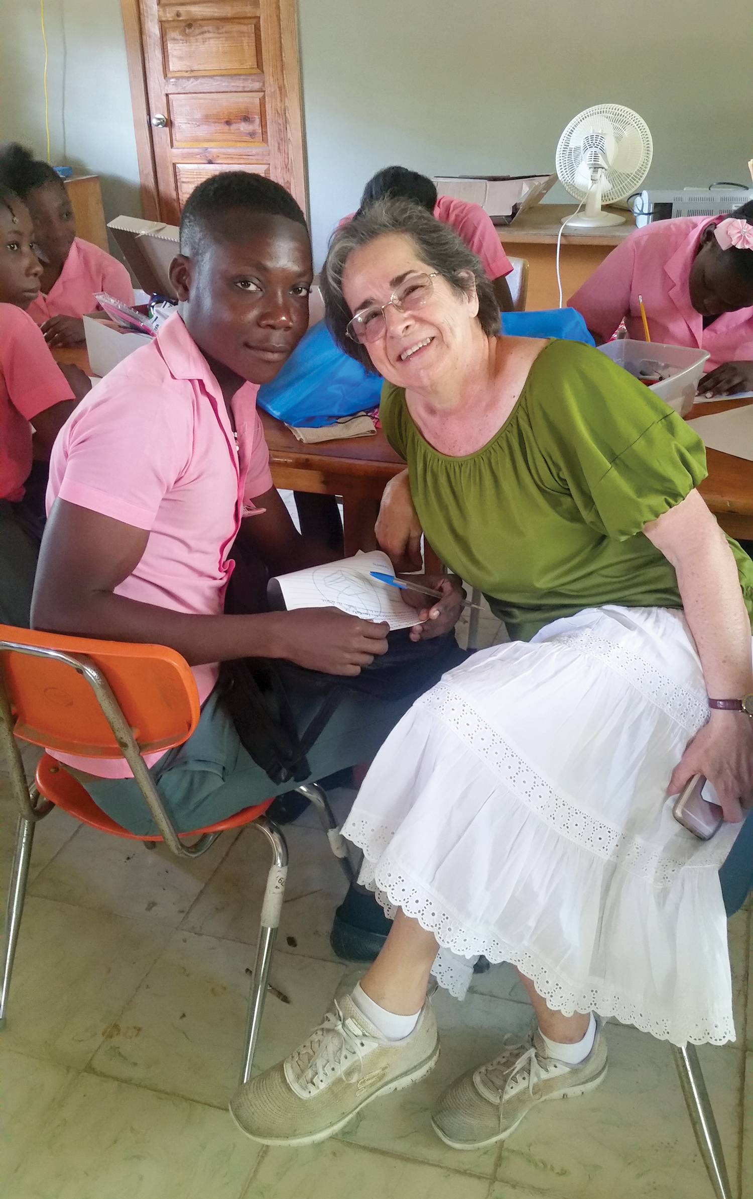 Sitting with our high school students, Jeanne DeTellis is reminded that shoebox gifts matter to students of all ages.