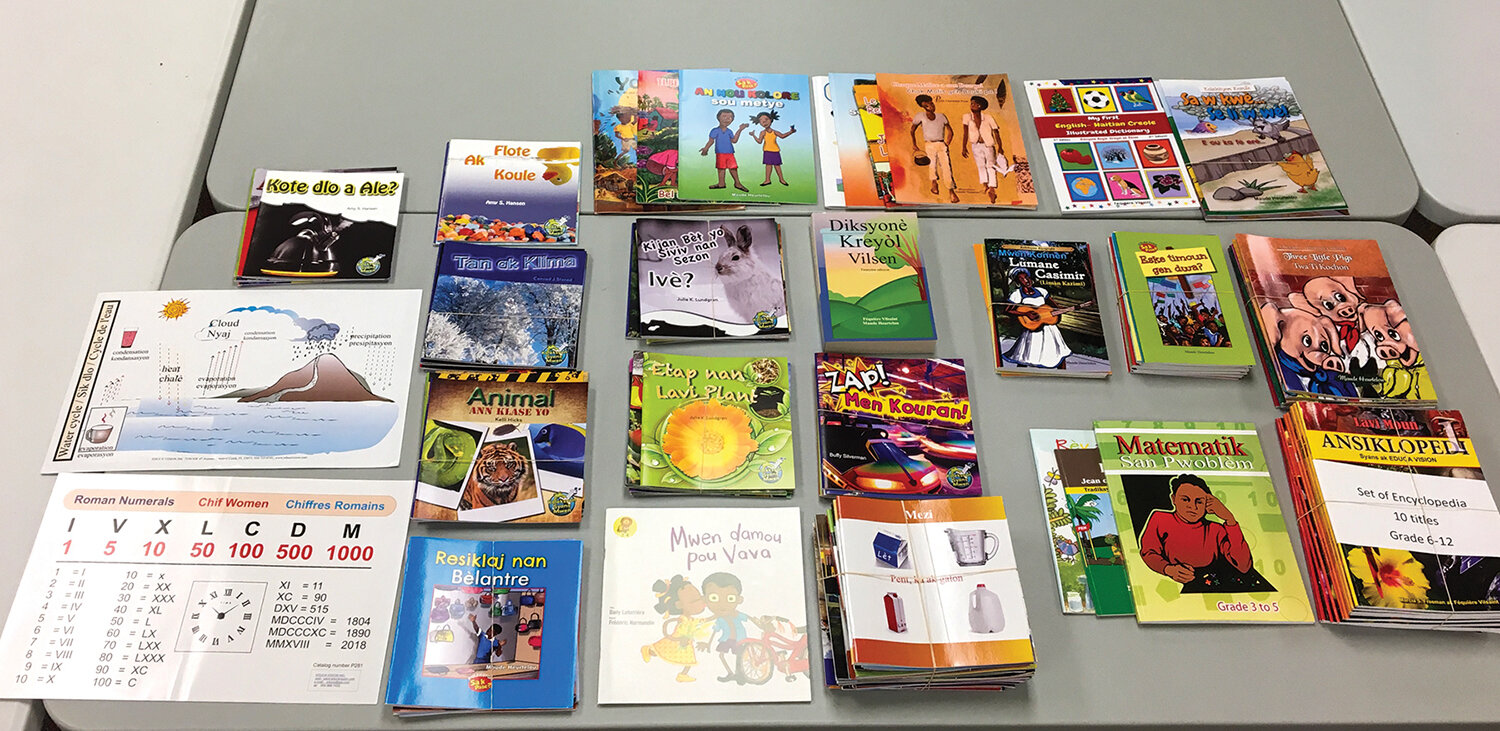 We are making library books a priority for each of our schools in Haiti and welcome your help to make this possible.