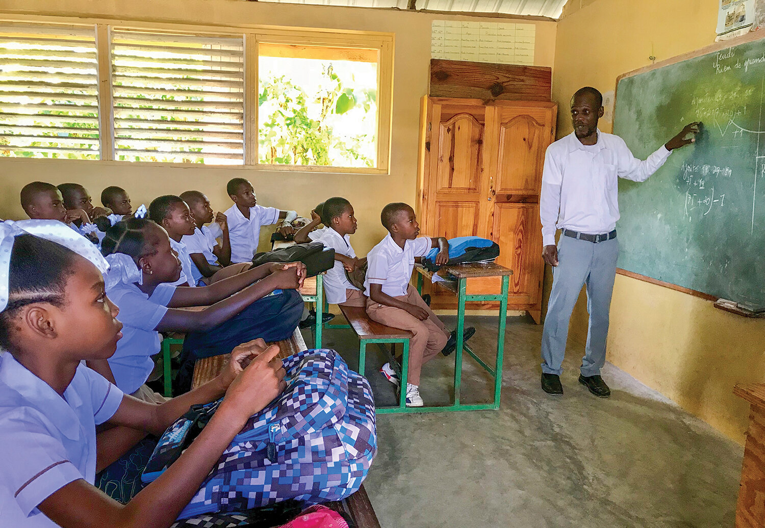 From the classroom we begin a revolution in the mind and heart as our students grow and learn to be new leaders for Haiti.