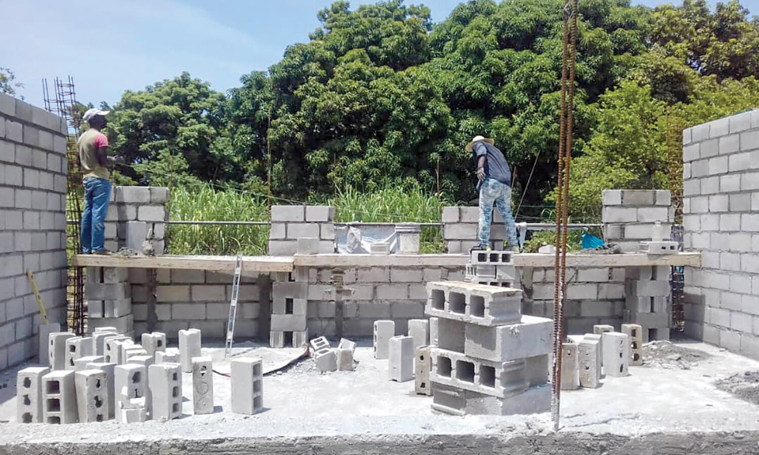 A new church is under construction on our campus in Flon, Haiti. This is built 100% by Haitians—providing jobs to support their families.