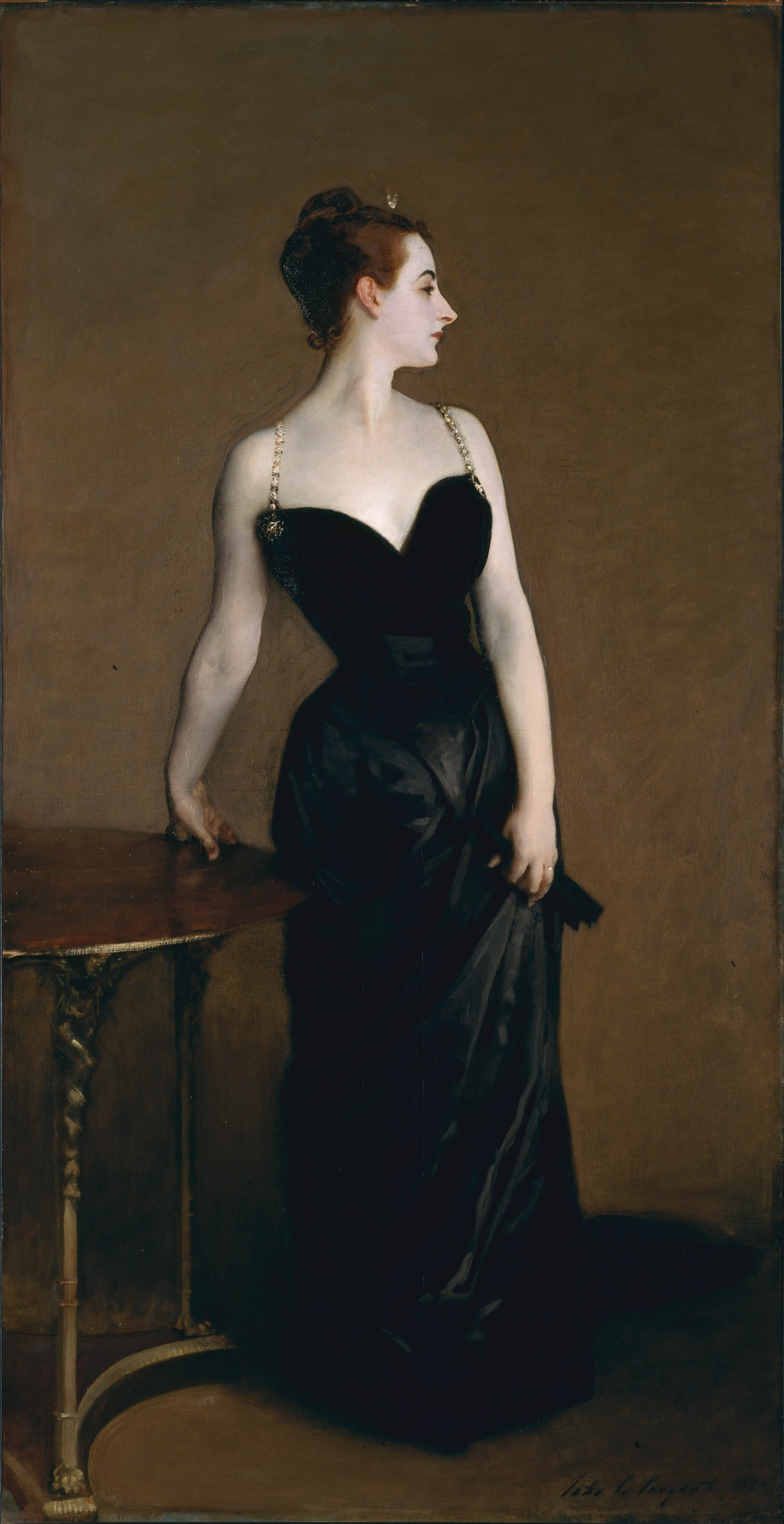 After the scandal at the salon, Sargent repainted the strap.
