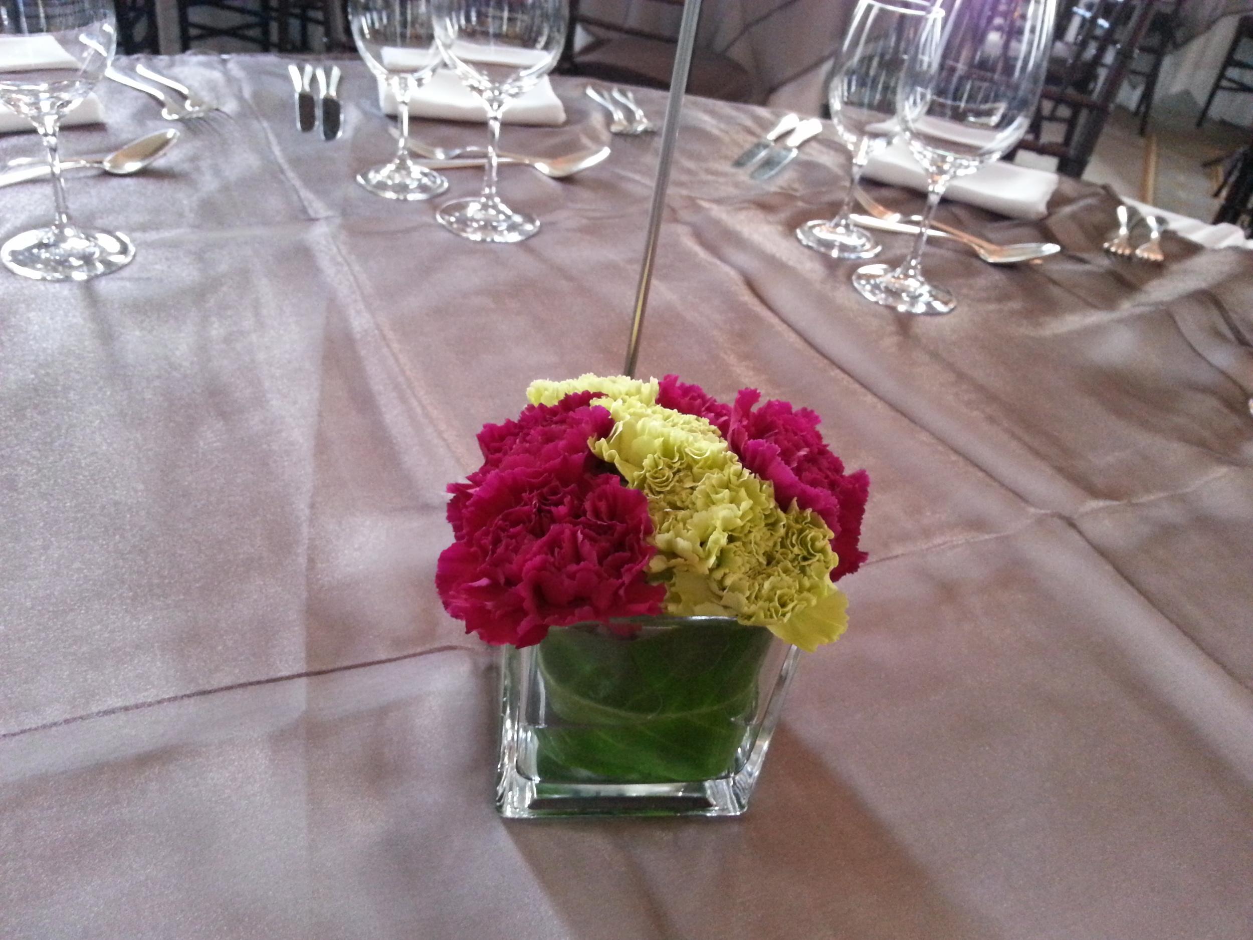 pink n green carnations