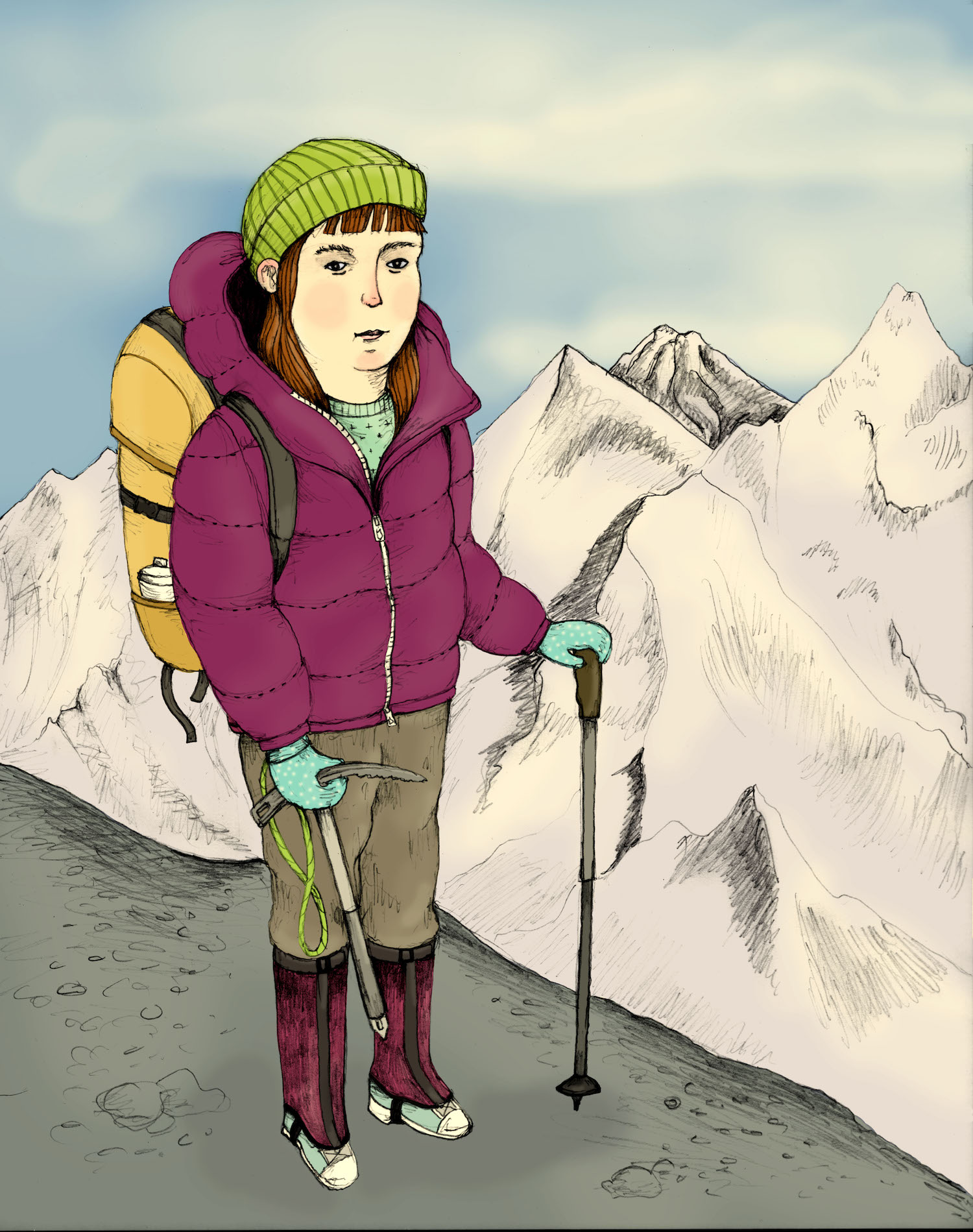 Self-portrait as mountaineer.