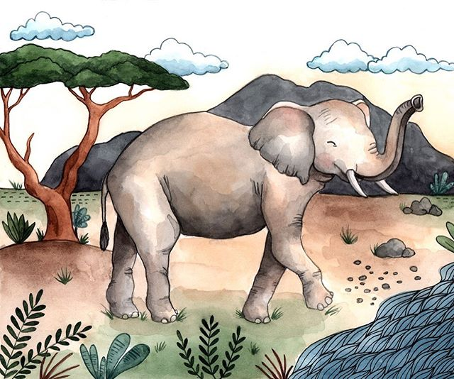 4th up in my endangered animals series is the Indian Elephant. I still have a long way to go before I finish up this calendar, but I'm excited by the progress so far. Once all the illustrations have come together, I'll be able to decide just how I'd like to present the information in the calendar because I'd like to to be both beautiful and educational. And a portion of the proceeds will go to the WWF in hopes to funnel more funds into the protection of these wild animals.