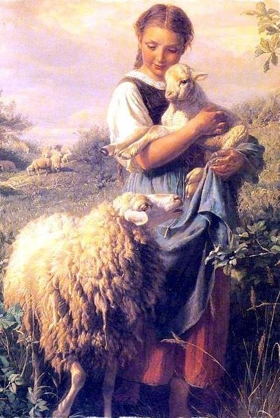 The Shepherdess , Hofner, 1866