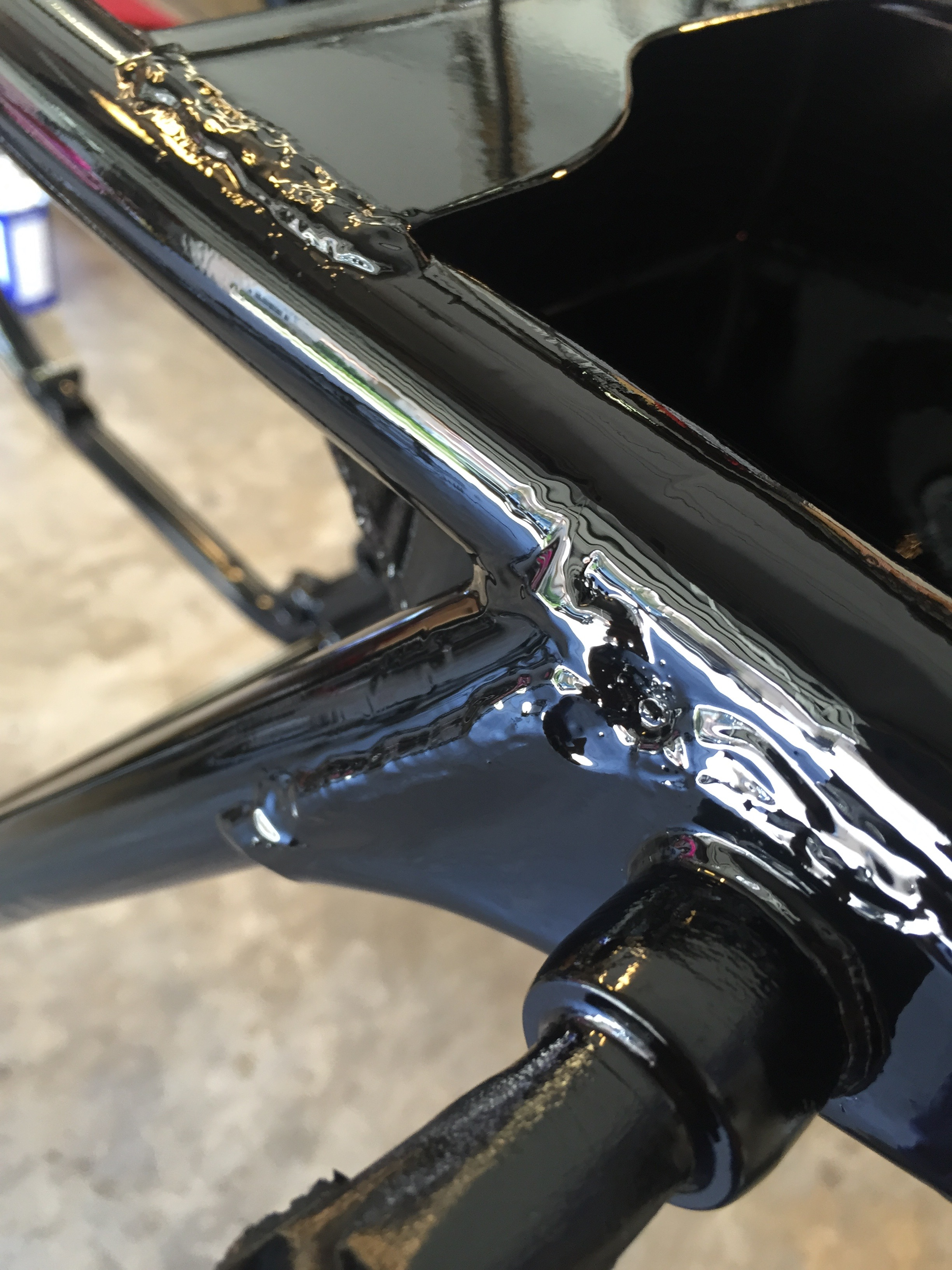 This frame was coated days ago and still looks wet. I'm super pleased with this new product.
