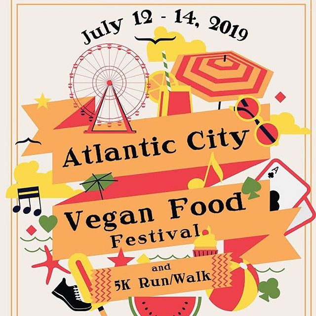 Get your tickets now for the Atlantic City Vegan Food Festival hosted by the amazing @njvegfest. We'll see you there! 😃