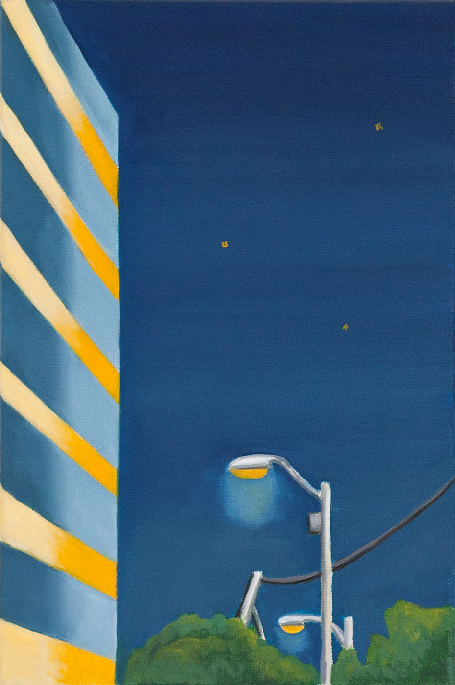 Night Lantern <br> oil on canvas <br> 20 x 30 cm,2015