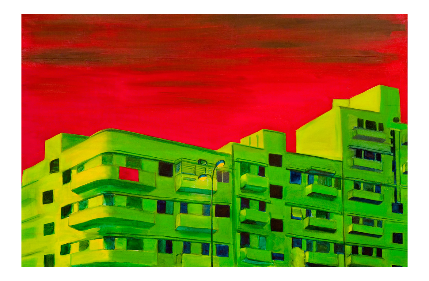 Ha'Alia Street <br> Oil on canvas <br> 80 x 120 cm, 2009