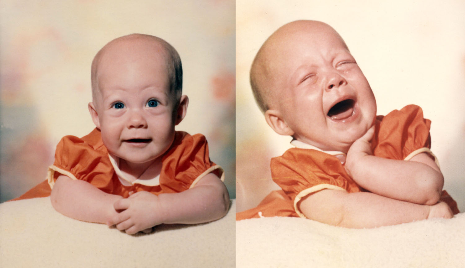 A smiling baby is always cute, but c'mon...is there anything cuter than a crying baby (sans volume)?