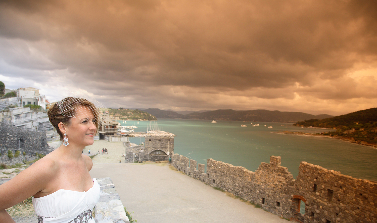 Overlooking the resplendent Ligurian Coast from just below St. Peter's Church in Portovenere. Photograph by David Bastianoni