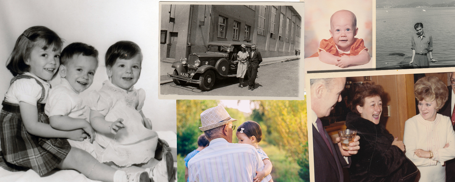 Your One-Hour Heirloom can include up to 20 images. A mix of old black-and-white photographs, modern shots that evoke your story, and letters (how wonderful to show someone's handwriting!) make for a dynamic design.