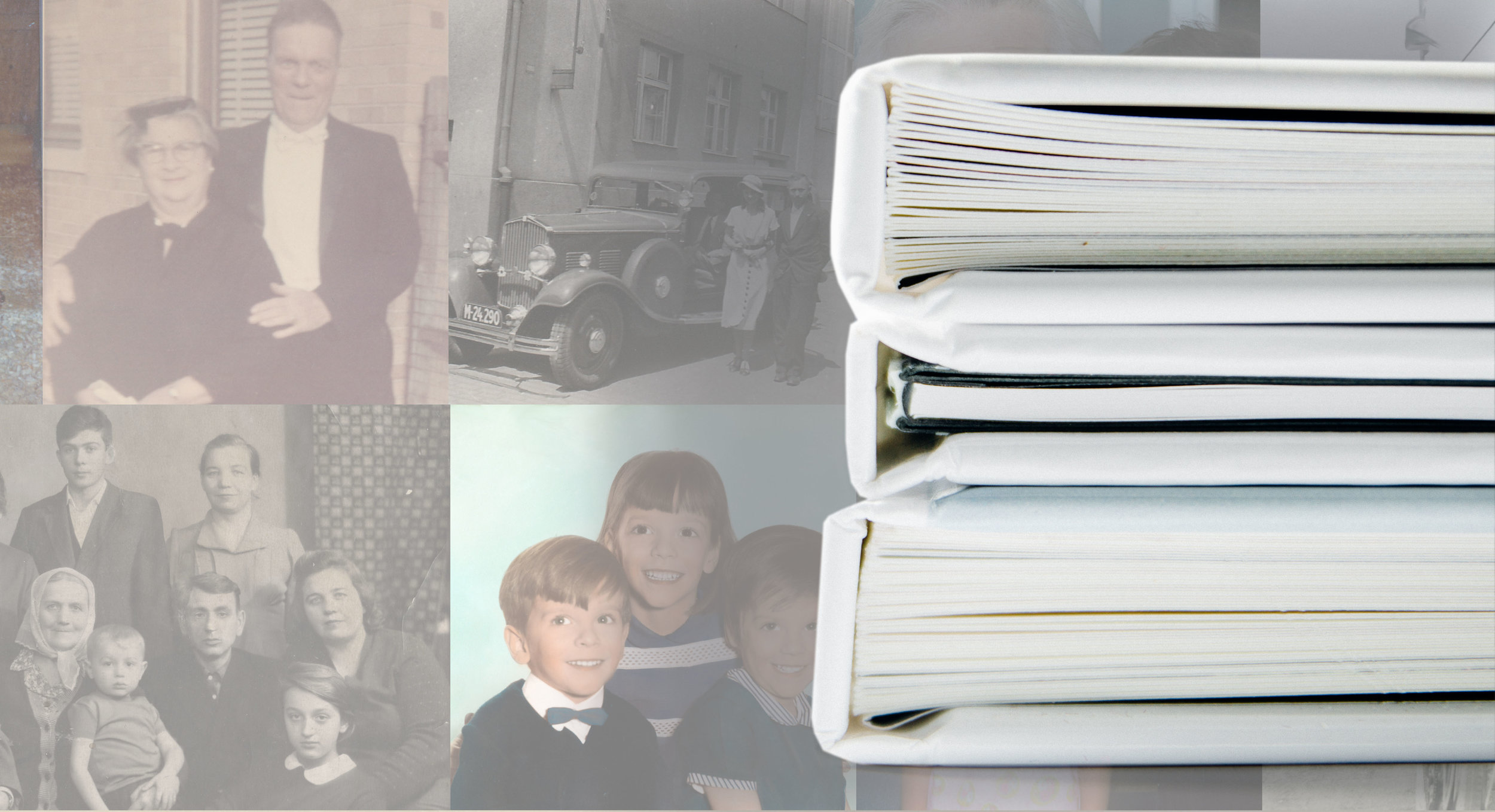 privately published tribute memory books often include old family photos and other pictures of the deceased