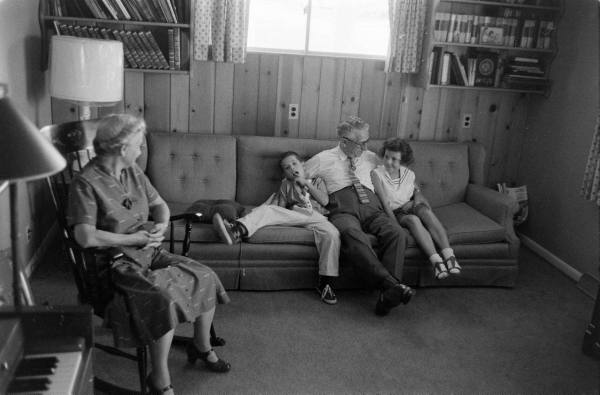 Retired man with family, 1959. Photograph by Stan Wayman for LIFE magazine. ©Time Inc.