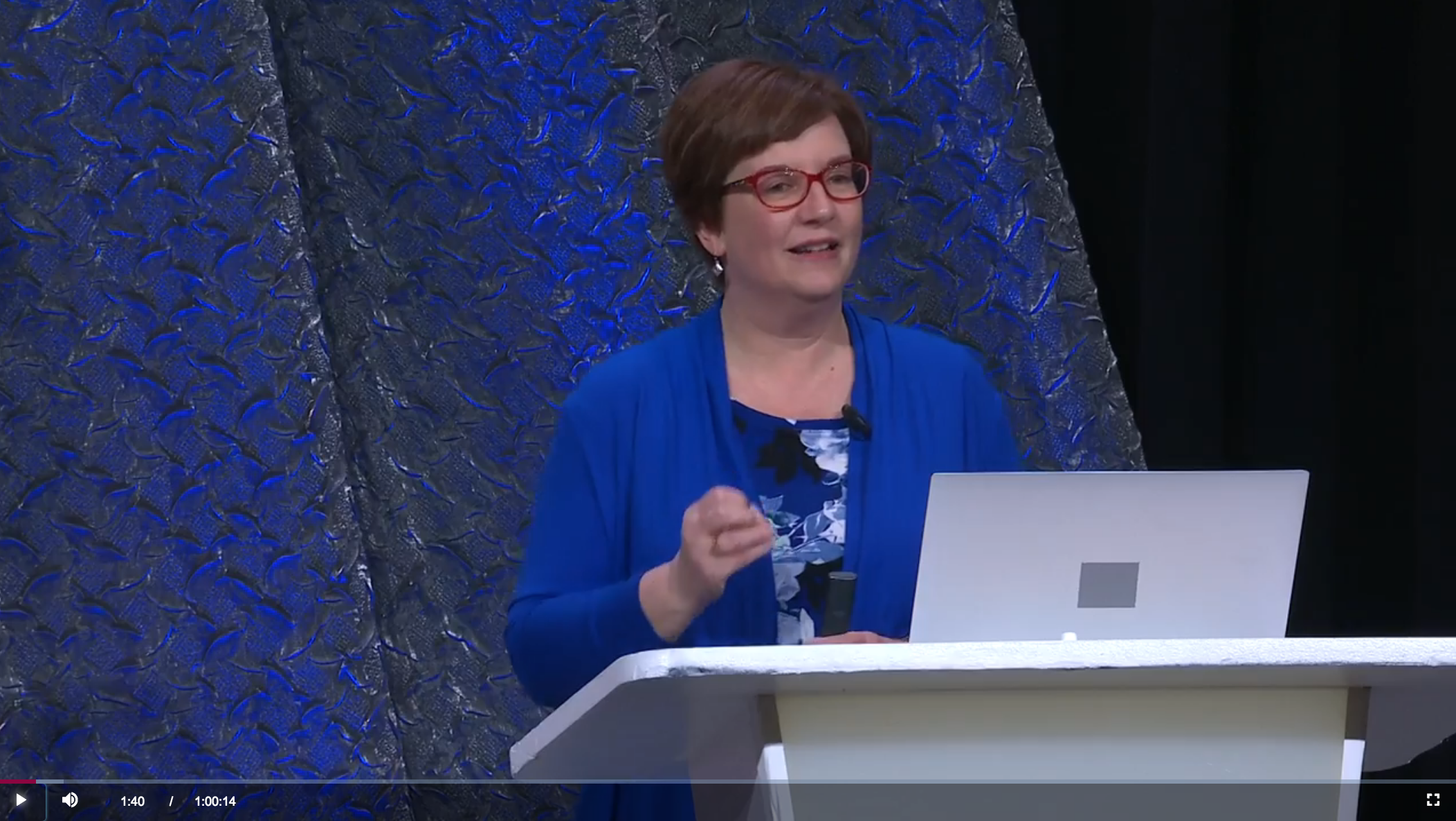Author and speaker Amy Johnson Crow presenting at RootsTech 2019