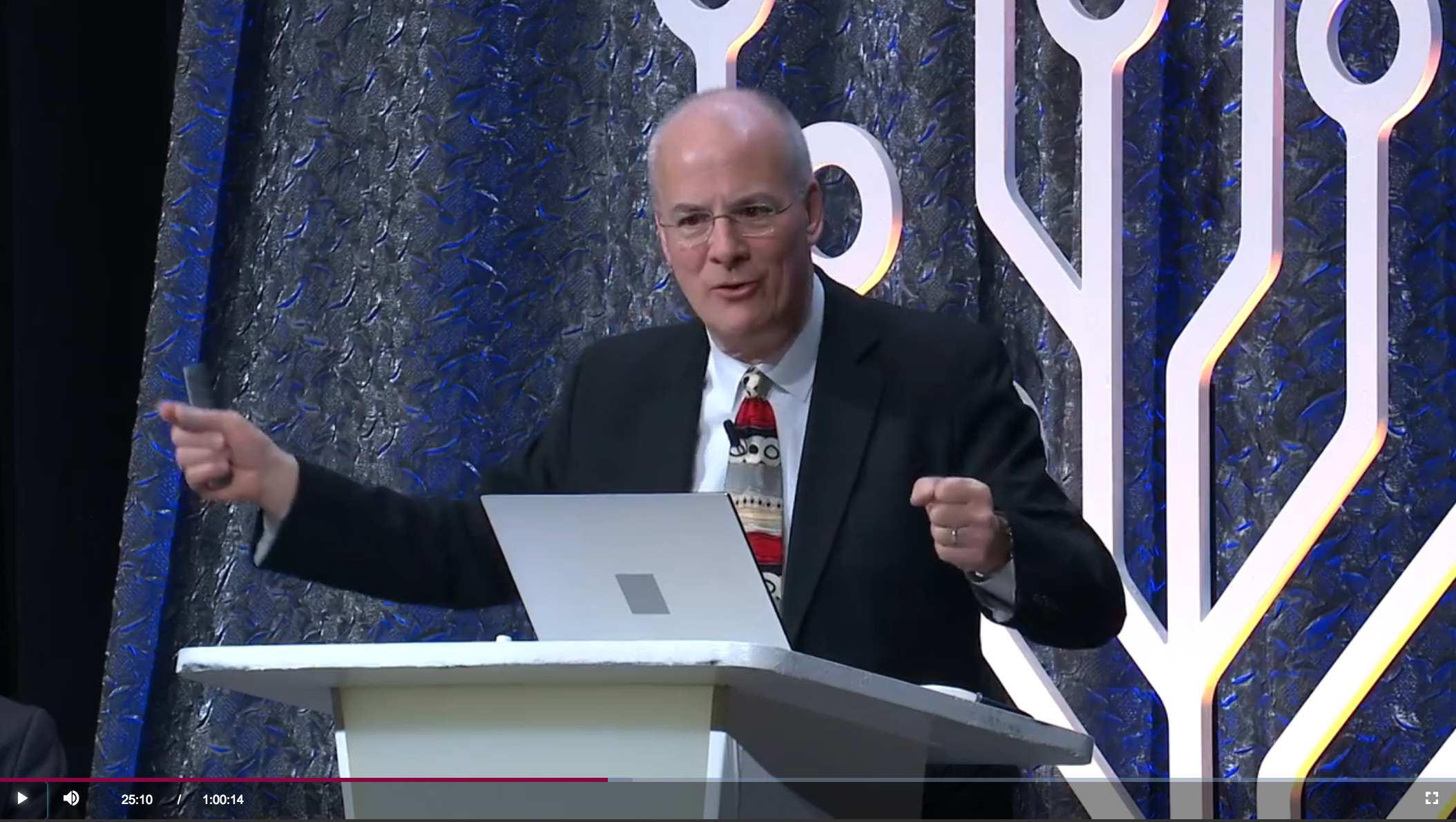 Genealogy expert Curt B. Witcher during his presentation at RootsTech 2019