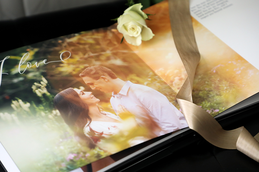 a book that tells the story of how you met is a thoughtful wedding day gift for the groom