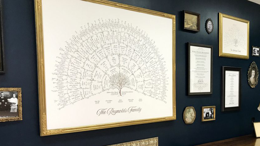 Branches Art creates family trees that are traditional and elegant.