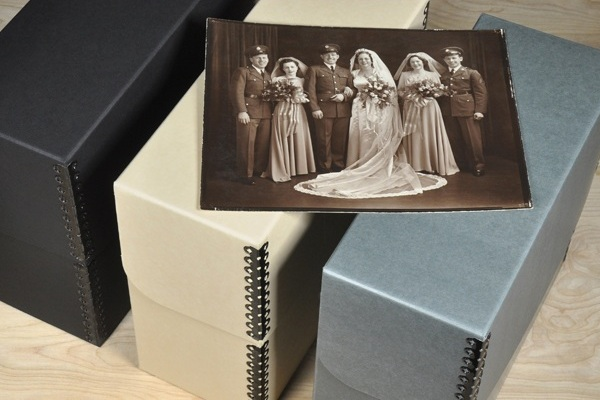 Request a catalog from Gaylord Archival or Archival Methods and wrap it with a Visa gift card so your recipient knows your intent (preservation supplies, of course).