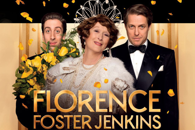 """This real-life story is a perfect comedy drama leading us into Christmas. Meryl Streep and Hugh Grant harmonise perfectly the humour and pathos. In 1930's and 1940's New York, Florence Foster Jenkins is a wealthy amateur operatic soprano. Surprisingly, in spite of her poor singing ability, her concerts are always sold out. We just have to laugh at Florence's mesmerising joy.       Florence, an heiress from New York always wanted to be a concert pianist and play Carnegie Hall. An injury in her youth deterred that dream. So she set out to sing her way to Carnegie Hall knowing the only way to get there would be """"Practice Practice Practice"""". Her husband supported her venture and the true story of Florence Foster Jenkins playing Carnegie Hall became a truly historic event."""