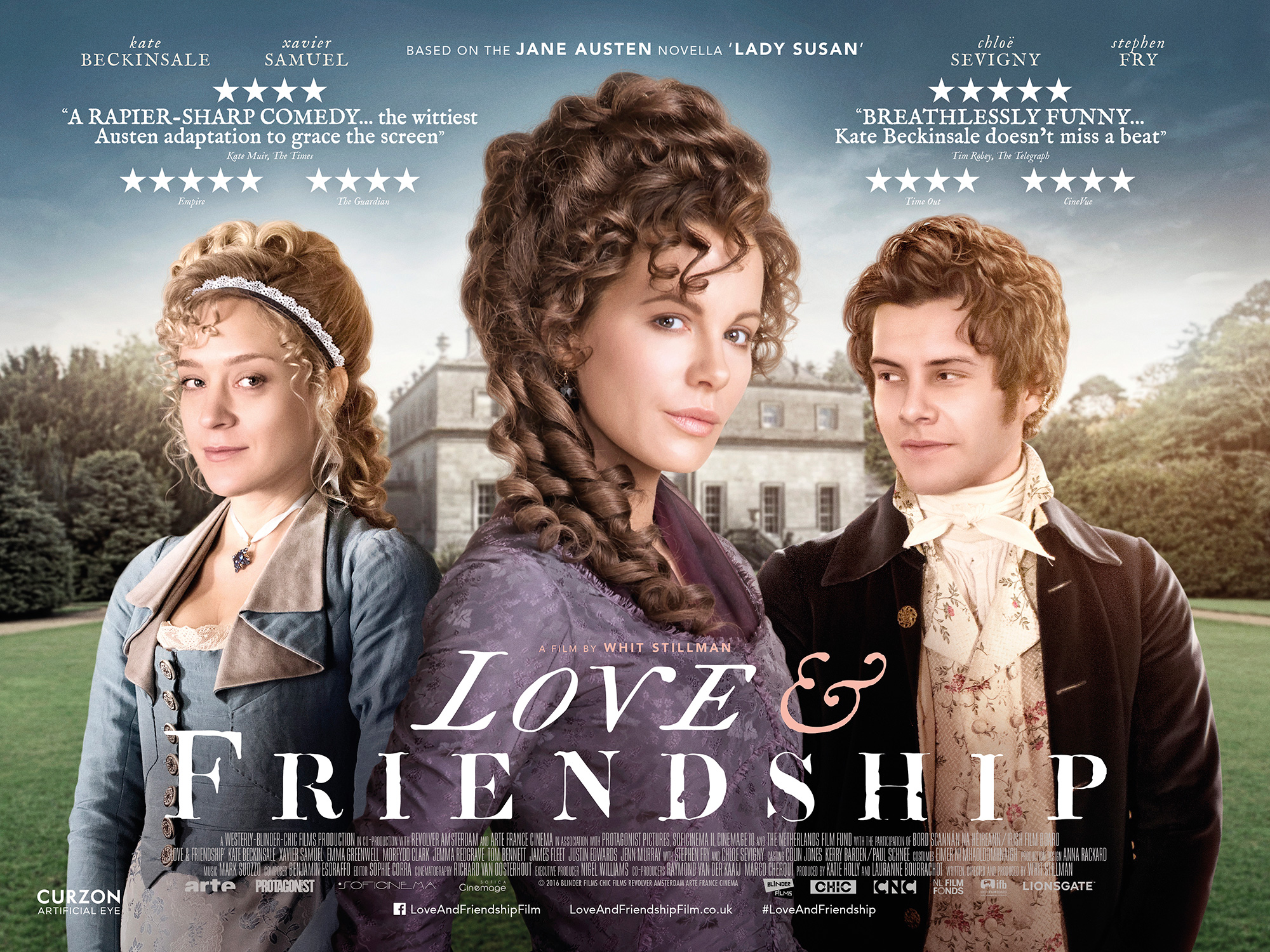 "Set in the 1790s, Love and Friendship centres on beautiful widow Lady Susan Vernon, who has come to the estate of her in-laws to wait out colorful rumors about her dalliances circulating through polite society. Whilst there, she decides to secure a husband for herself and her rather reluctant debutante daughter, Frederica.  This romantic comedy drama, based on Jane Austen's novel, ""Lady Susan"", stars Kate Beckinsale as Lady Susan Vernon. She favours scandal without scruples and observes that ""Facts are horrid things"". The costumes are impeccable. ""Love and Friendship"" will continue our Christmas joy into the New Year."
