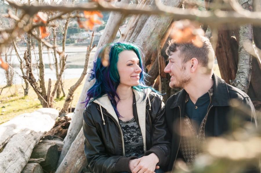 edgy couple engagement photos