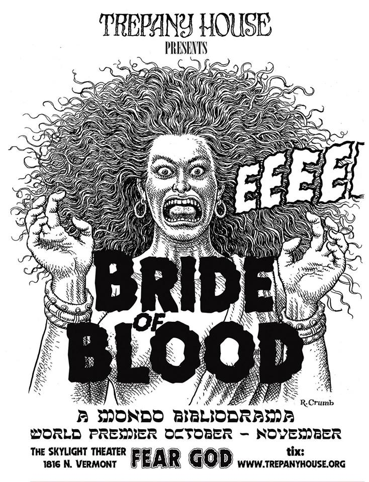 "Oct 2018 Acting Update: Please join me and a terrific cast for "" Bride Of Blood "" a truly epic new play I'm starring in. World premier Oct. 18 here in Los Angeles at the Skylight Theater! Ticket info:  http://trepanyhouse.org/"