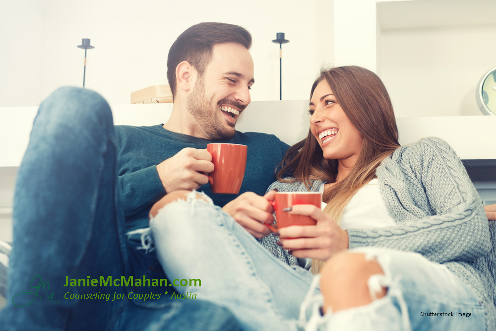Intentional Couple Drinking Coffee Laughing with attribution.jpg