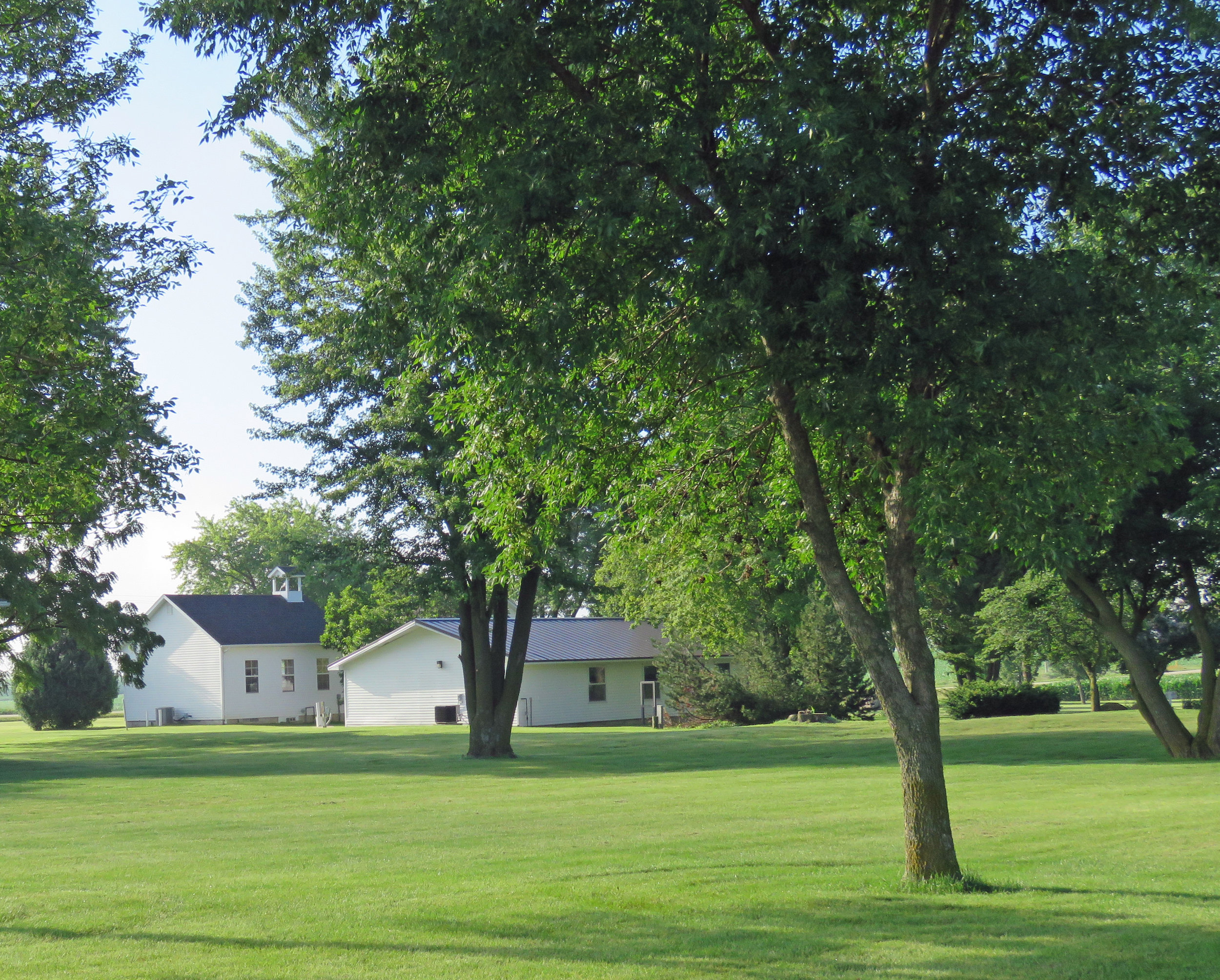 View from behind the old schoolhouse.