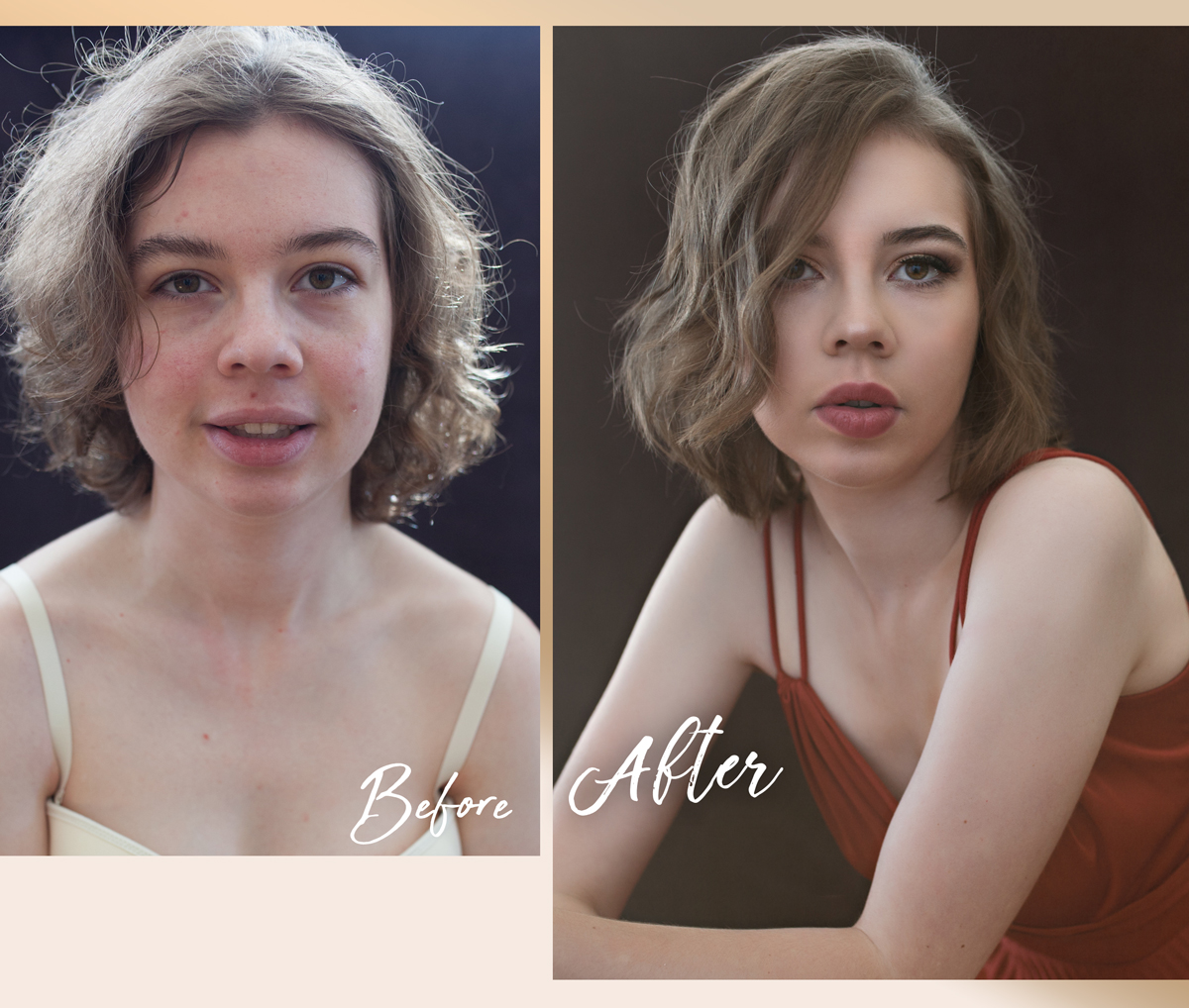 Before-After-Beautiful Women-Red
