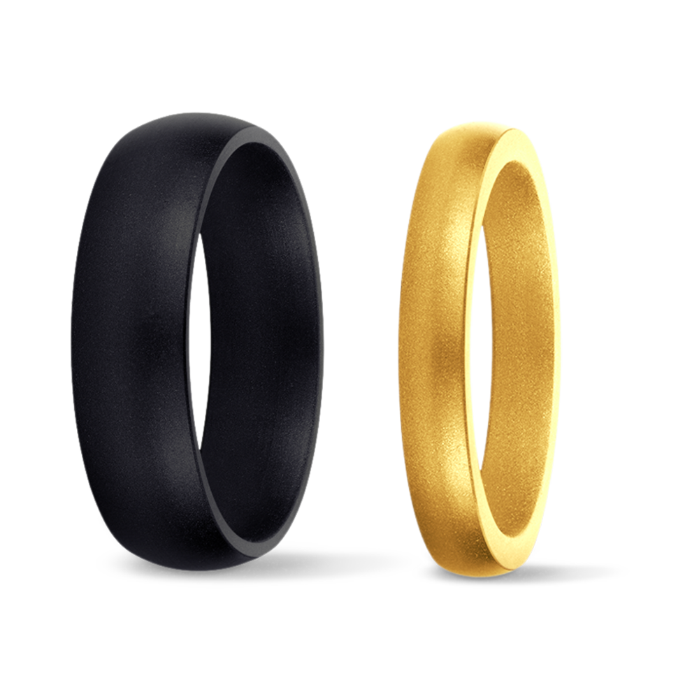 Original & thin RINGS - Silicone wedding rings for those who match hard work with commitment.