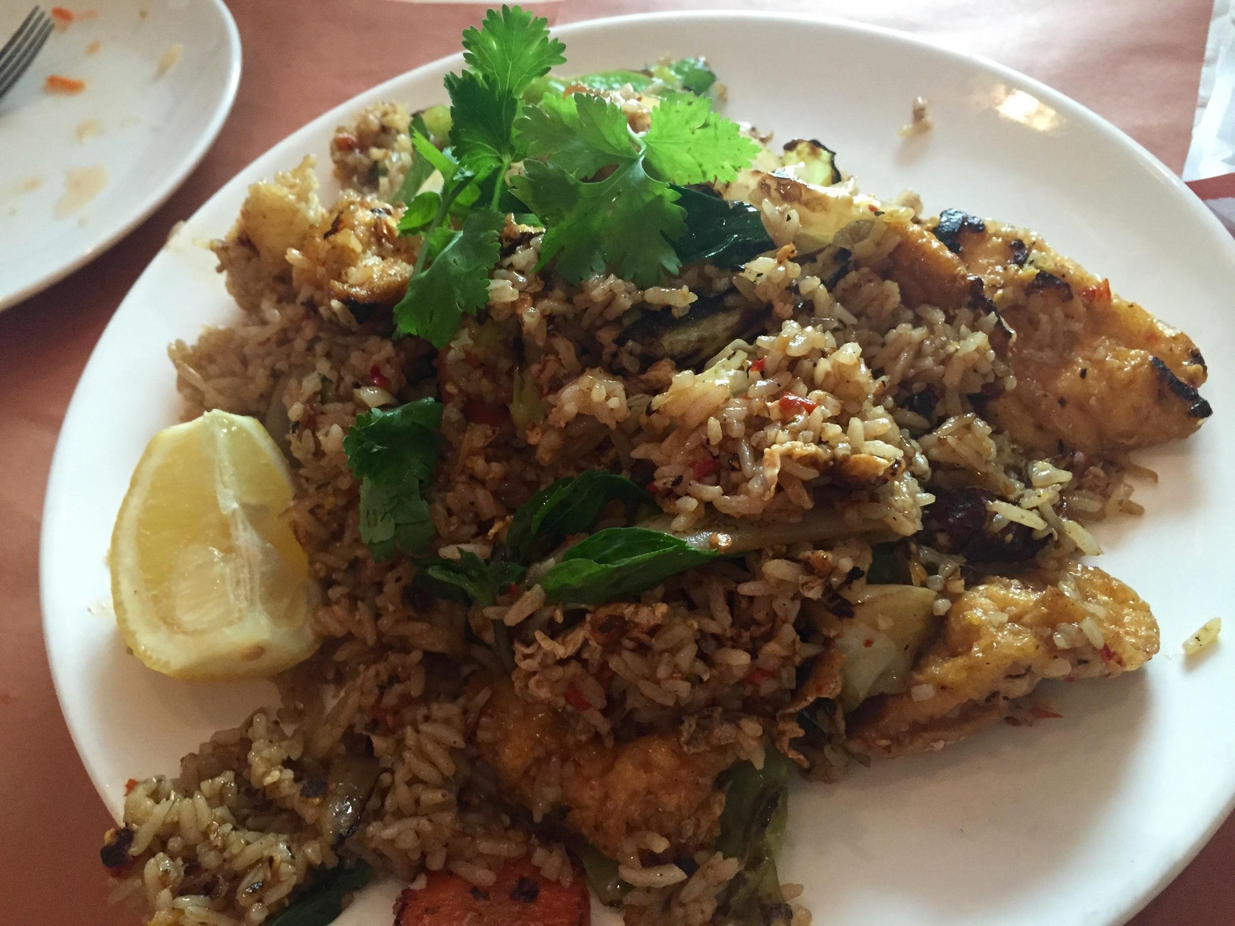 Basil Fried Rice With Tofu