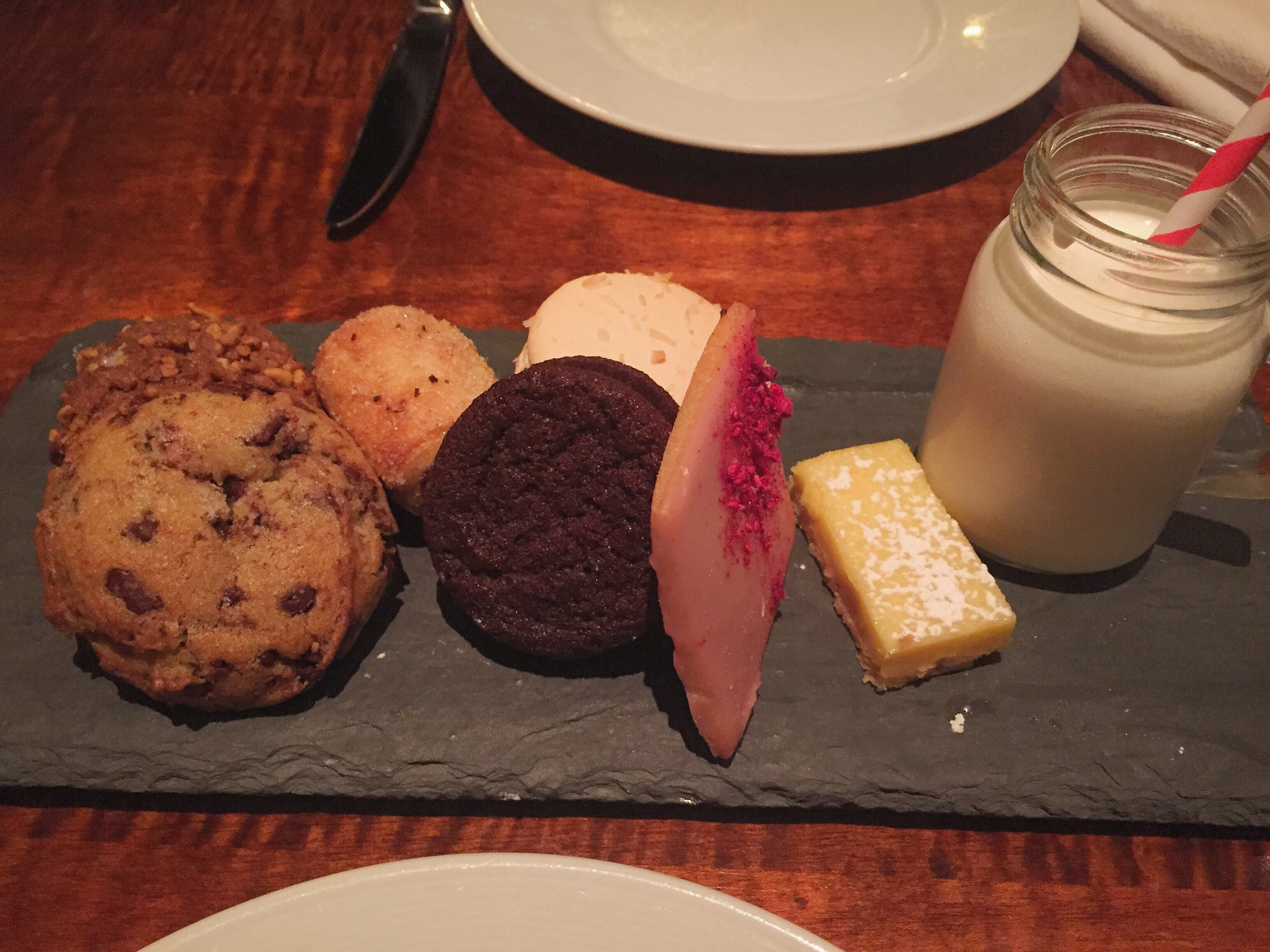 Gramercy Tavern Cookie Plate with Milk