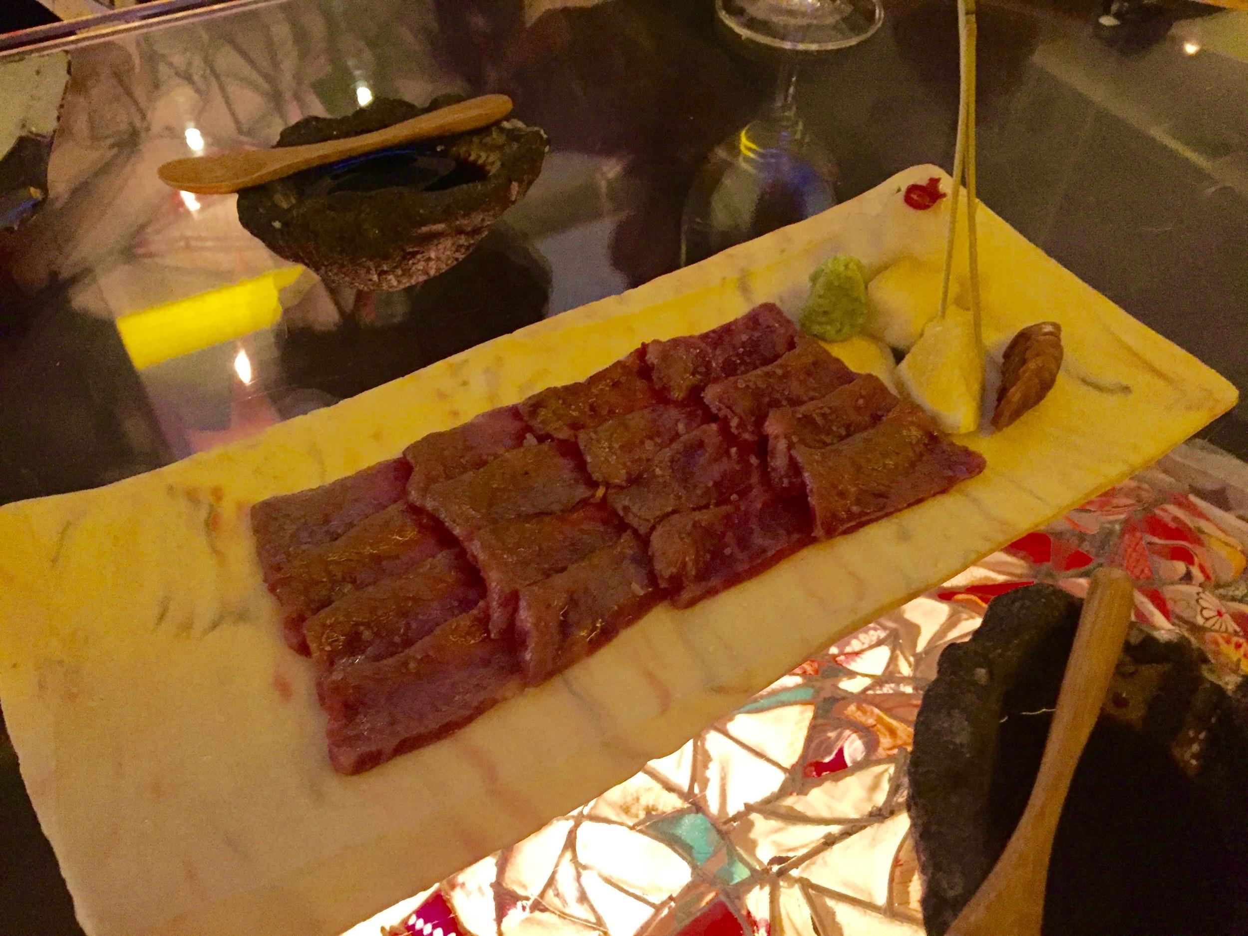 Washu-Beef Short Rib Sashimi