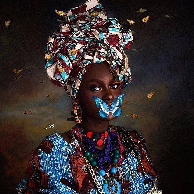 💎💎 from @fashizblack Butterfly 📸@fabolousbanji @fadeelahimam 💄👑@dazeita #madeinafrica #fashizblack #africanfashion #africanbeauty #africanprints #ankarafashion #blackbeauty
