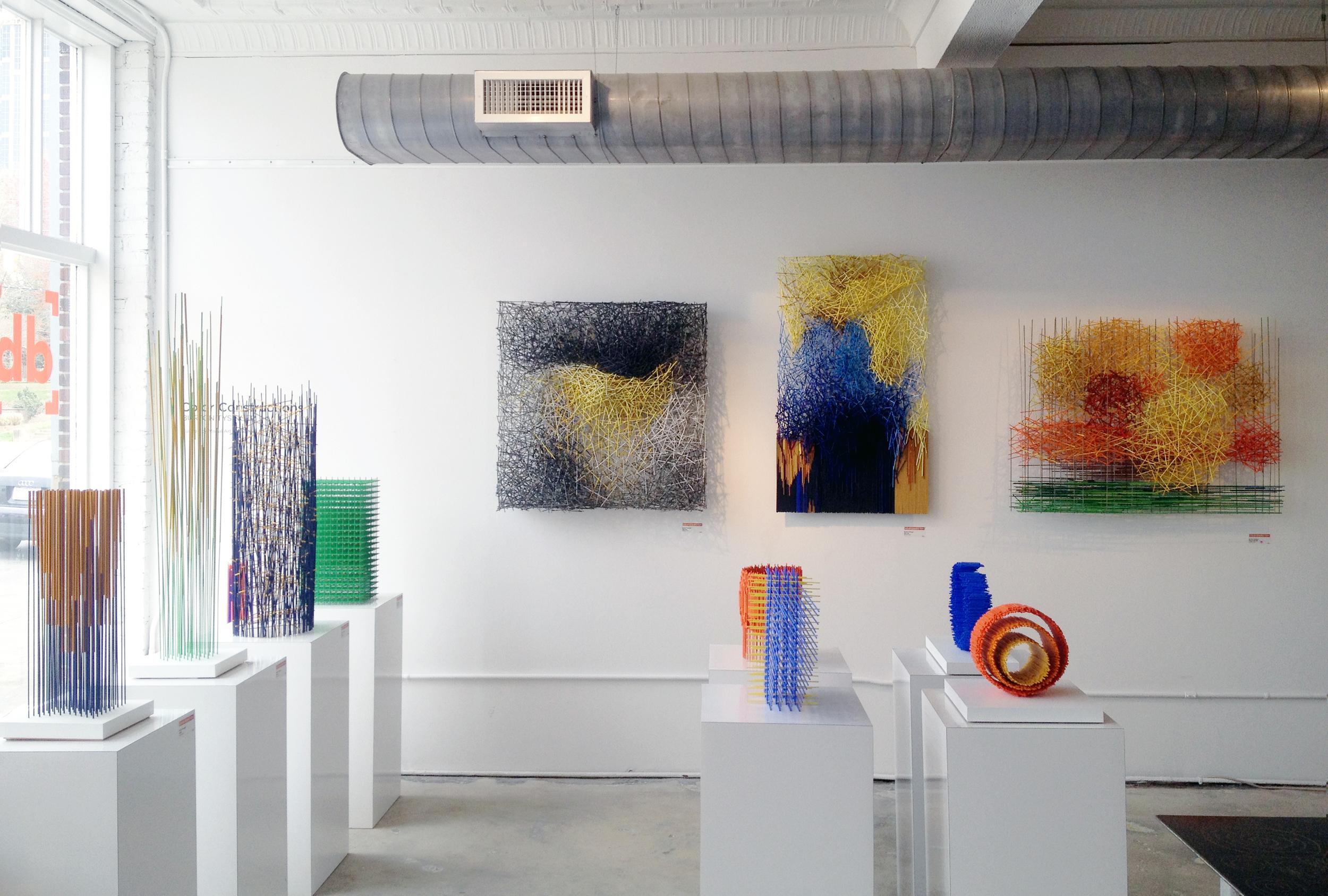 "Burton Tysinger's exhibition ""Color Constructions"" at  Designbox"