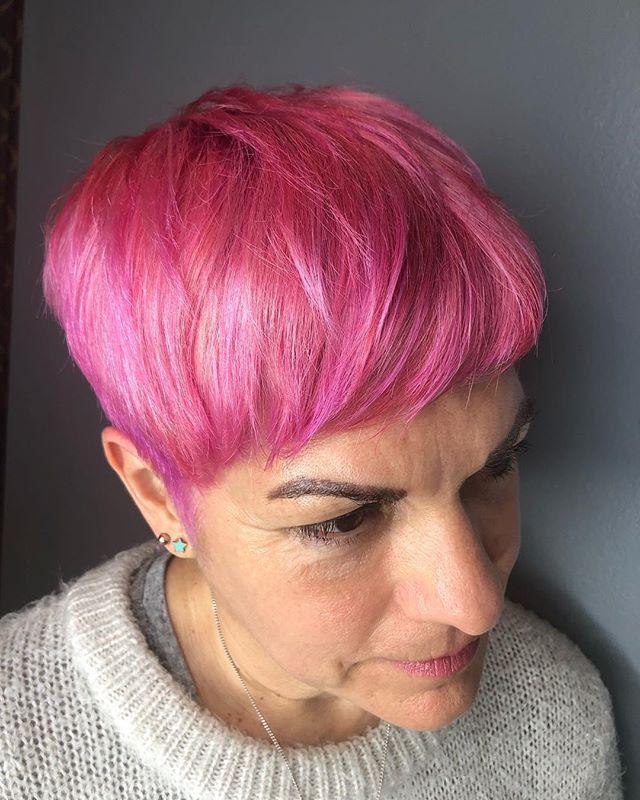 Perfectly pink🌸🌷🌺 . . . . . . #tashapaintedit #tashacutit #tashadoeshair #pinkhair #pixieperfect #portlandmaine #mainecolorspecialist #mainecolorist #mainehairstylist #newenglandhair