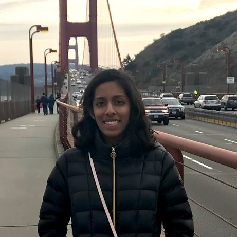 Name : Nila Ramaswamy   Graduation year:  2021   Majors:  Business & Statistics and Machine Learning   Interests : Puppies! Also love doing research in genetics and machine learning, playing tennis, and trying out my friends' recipes.   Project area:  Big data, medical technology, neuroscience, AI, anything really!   Fun fact : I have a bad habit of trying to learn too many languages at once
