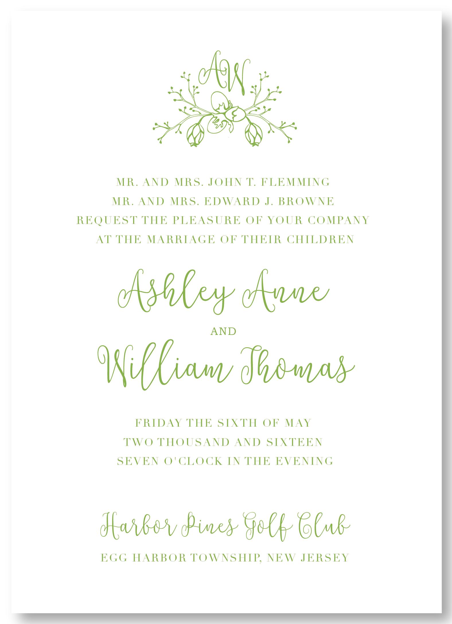 The Harbor Pines - Invitation