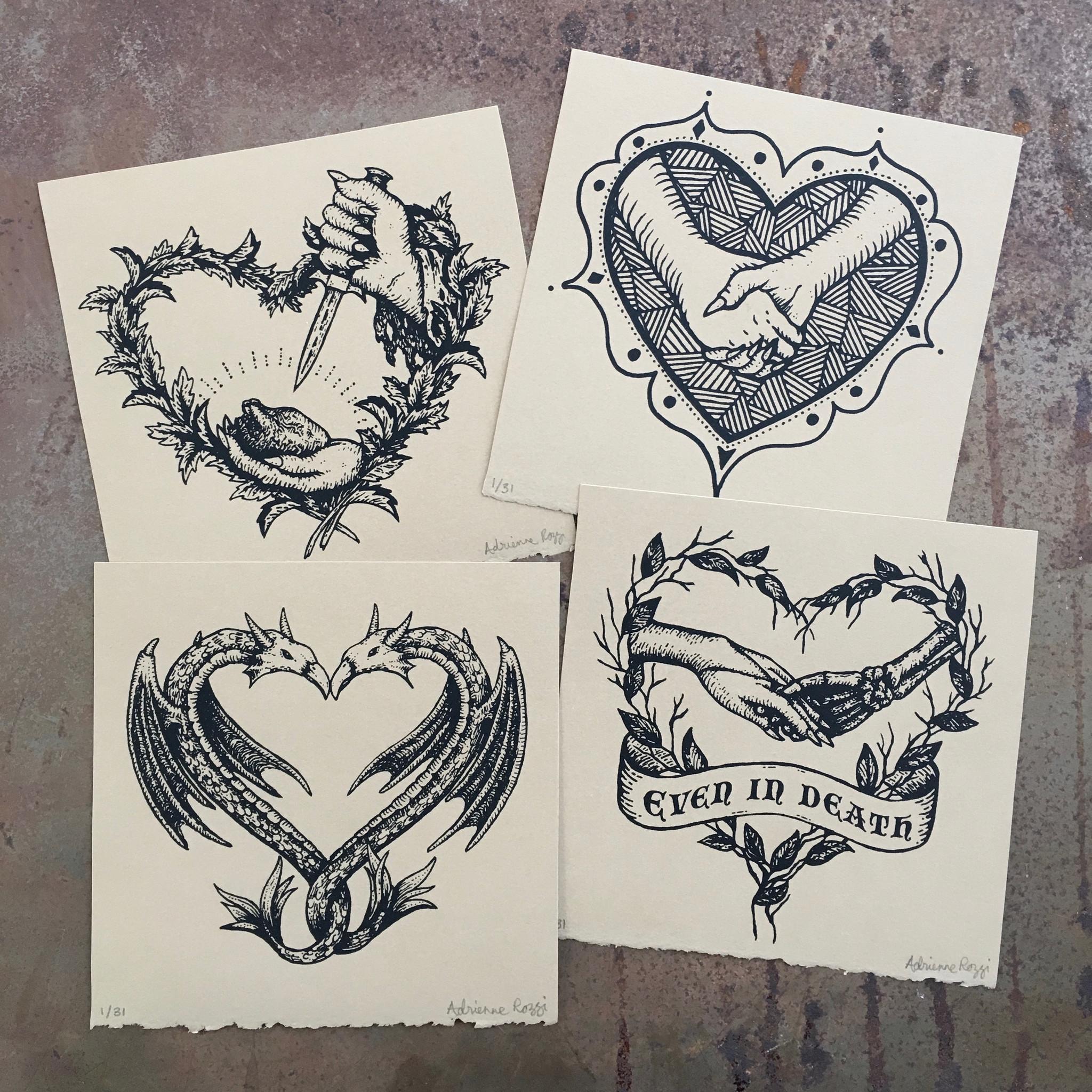 Poison Apple Printshop's Valentine's Day Mini Print Set