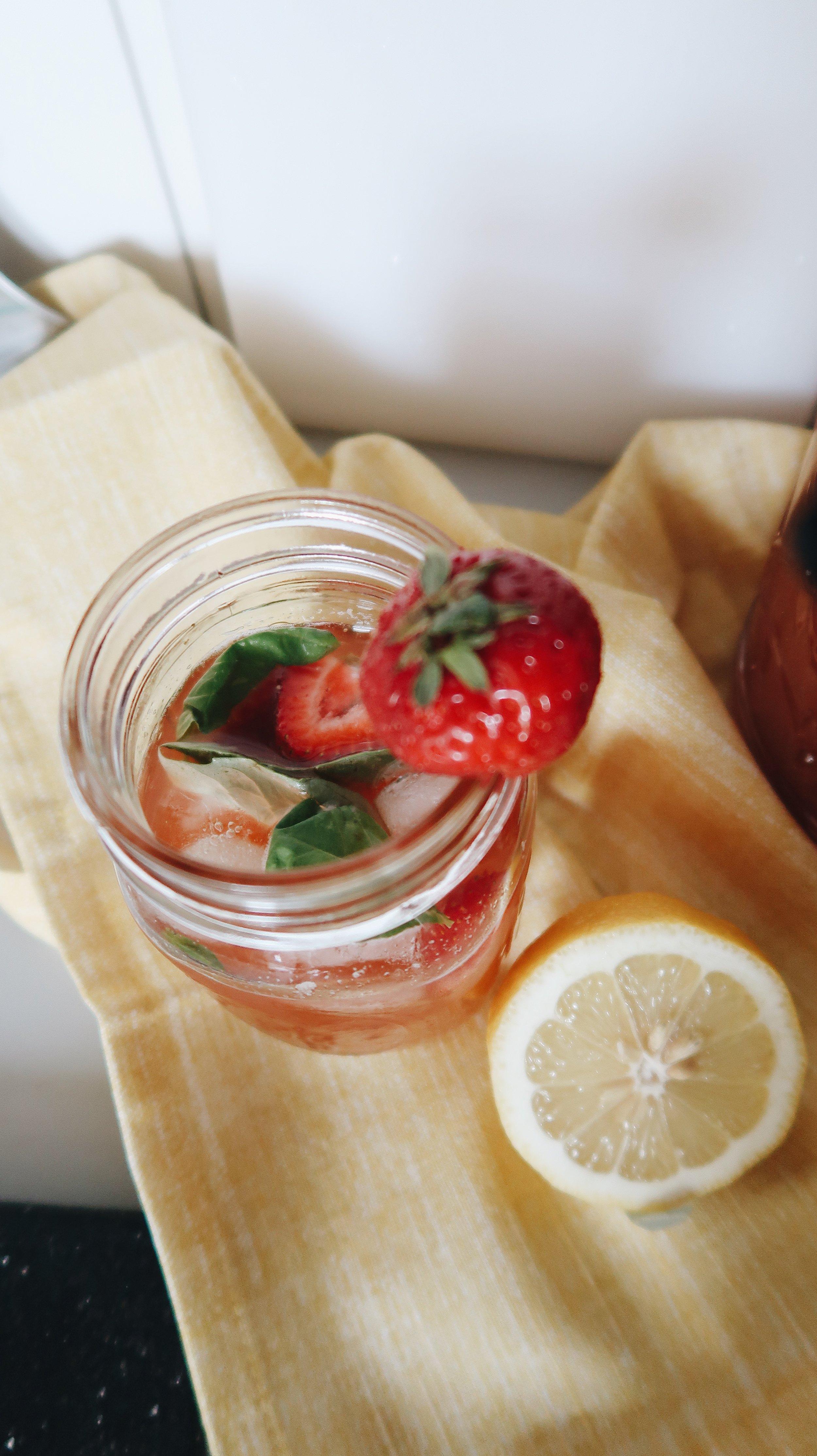 Refreshing Summer Strawberry Basil Lemonade