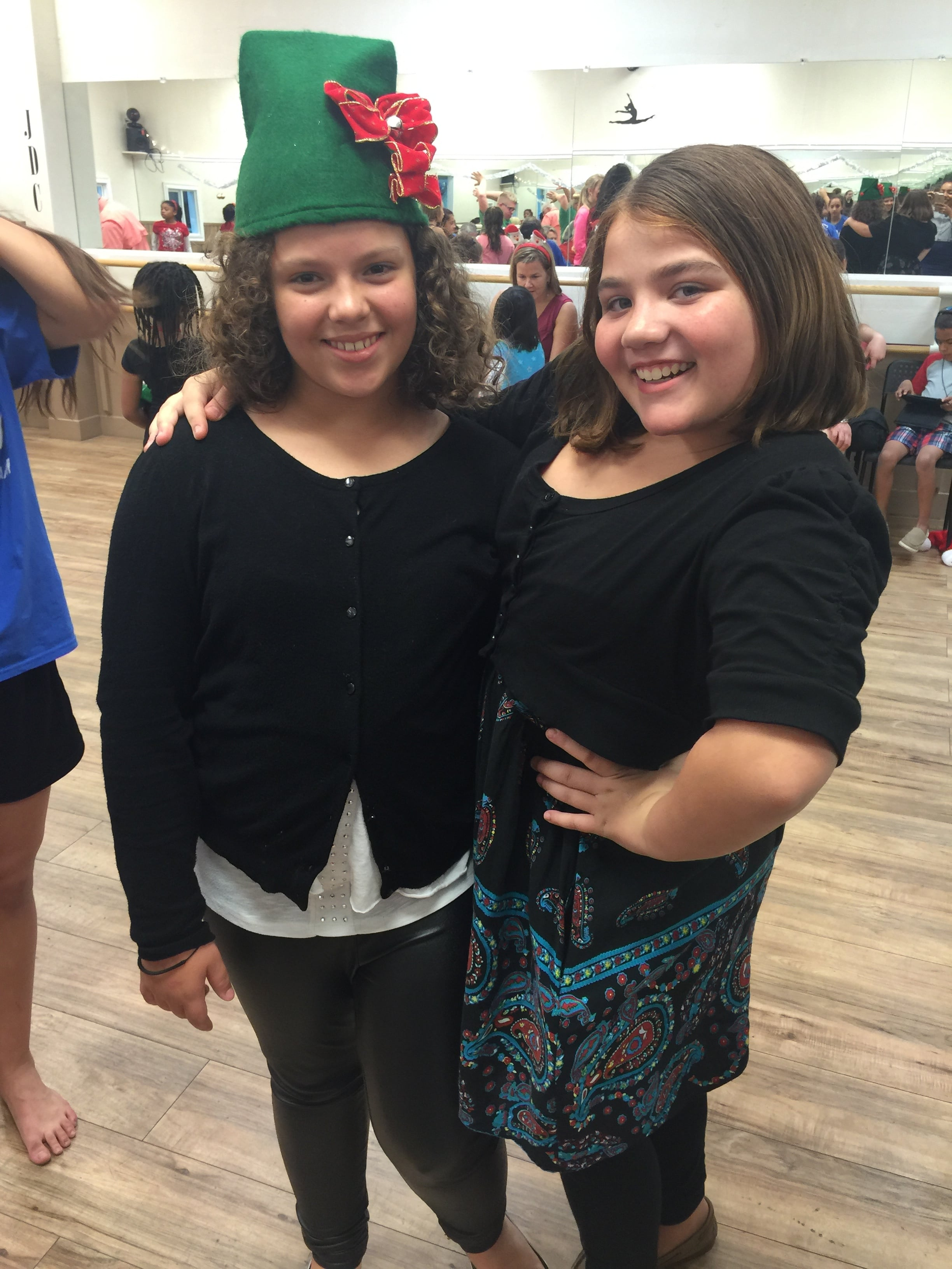 Youth Leonna and Phrankie enjoying a holiday gathering sponsored by a local dance center. Special thanks to Foundation for Foster Children.