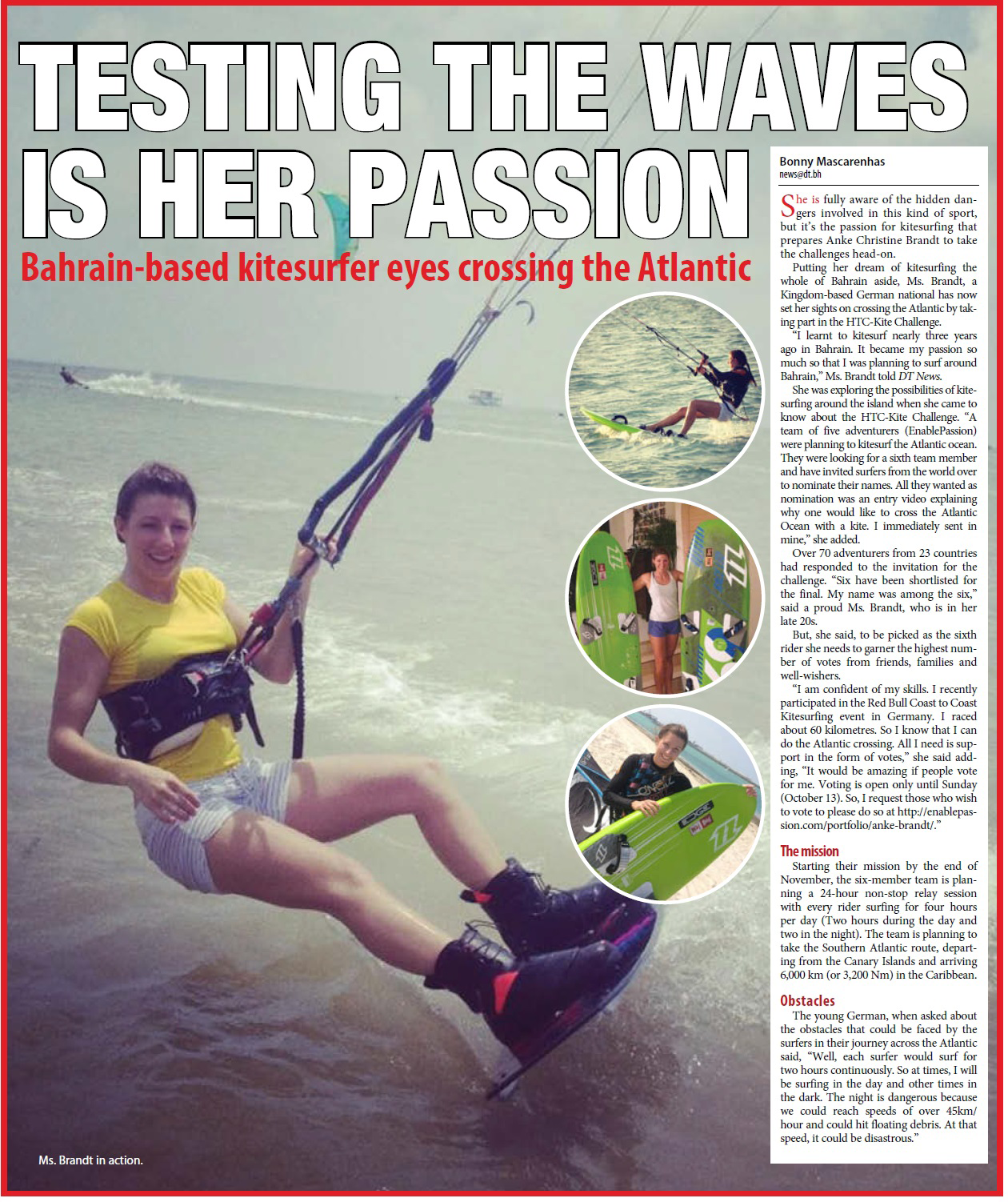 Clipping daily Tribune Bahrain.png