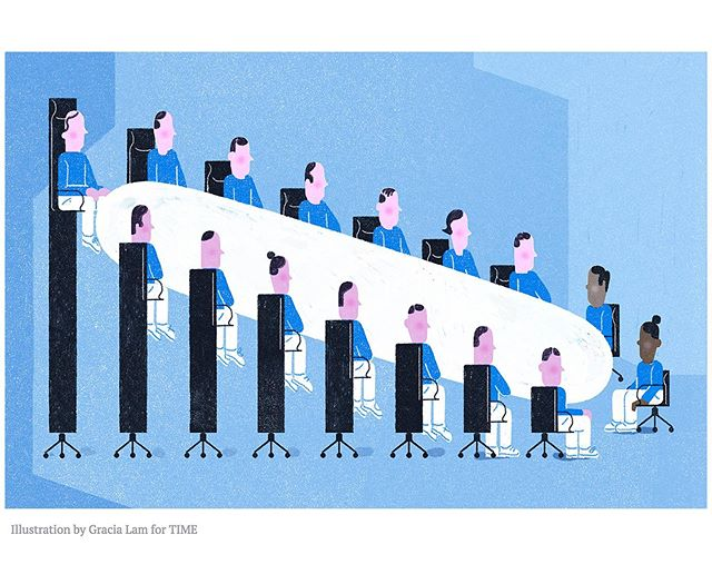 Illustration for @time, on diversity becoming a booming business but still lacking within companies. #timemagazine #racialdiversity